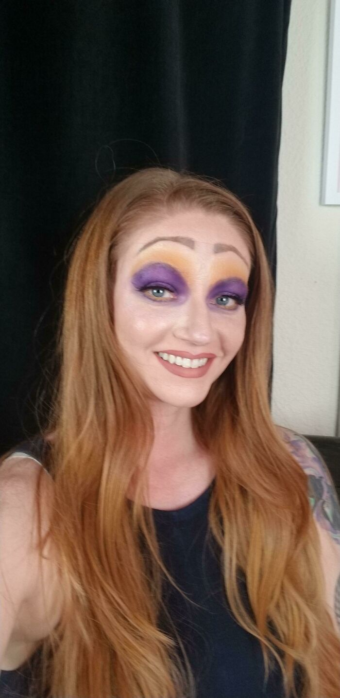 It's Actually Just Me... The Goal Was A Purple/Yellow Look. I Tried A Disney Villain And I'm Just Ashamed