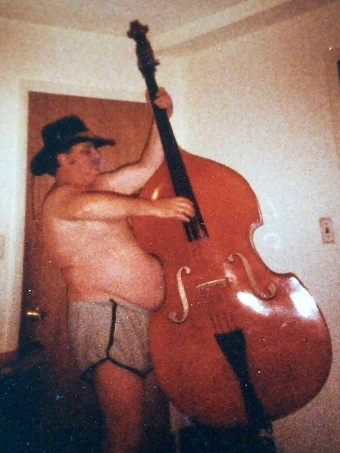 My Grandpa Playing A Standup Bass