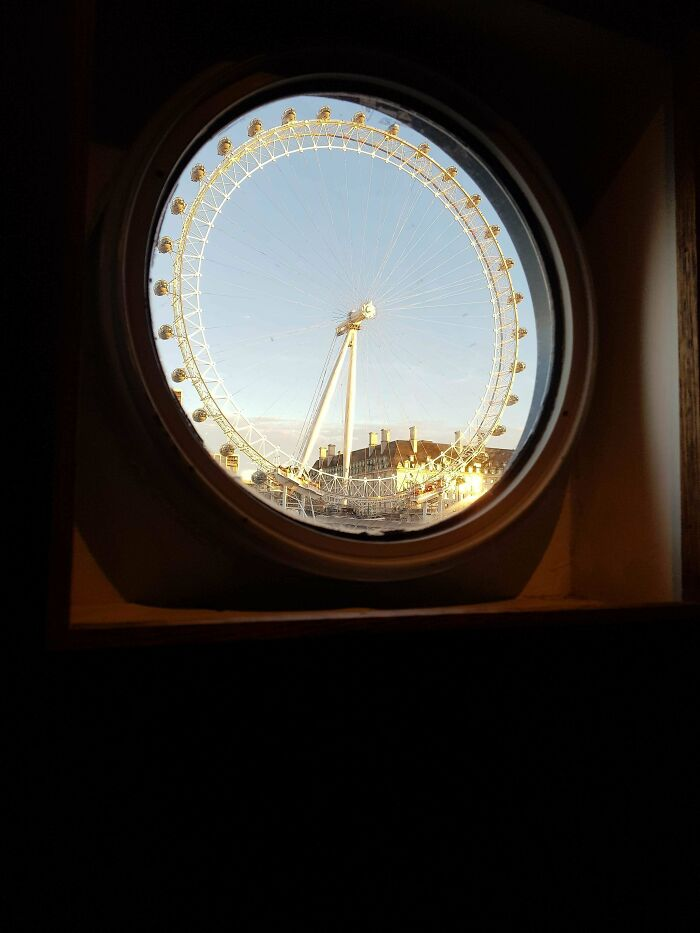 I Picture I Took Of The London Eye Through The Window On A Boat On The Thames
