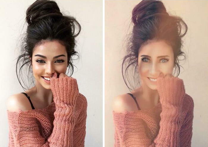 Ya solo publica fotos de modelos a las que photoshopea su propia cara encima