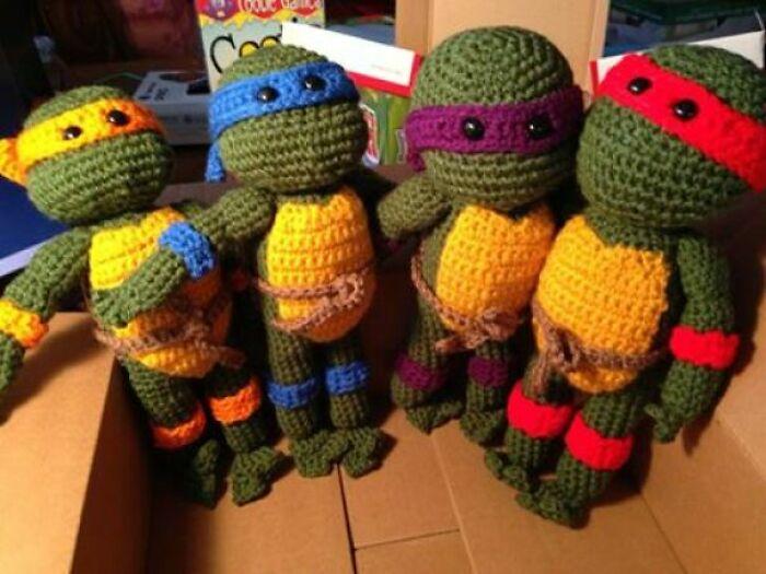 I Crocheted The Ninja Turtles For My Nephew