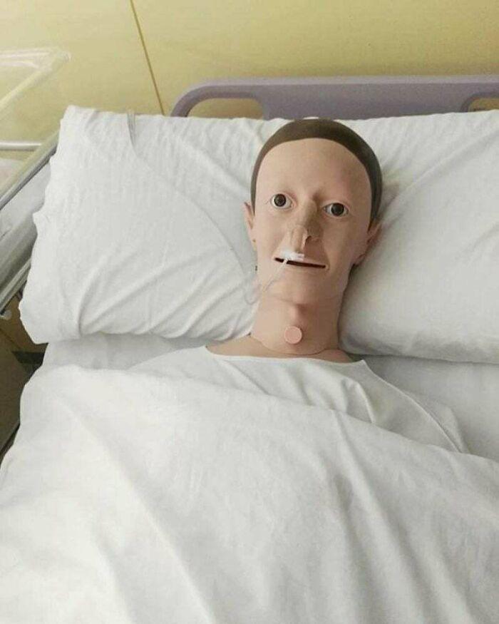 Mark Zuckerberg At Home Sick In Bed