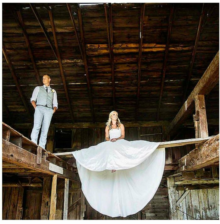 Impressive Splits For A Bride With Very Long Legs