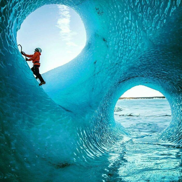 Surfer Rides Rare Double Tube Wave