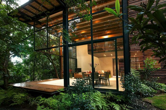 Open Air Living Space Connected To A Deck Surrounded With The Greenery Of Valle De Bravo, Mexico
