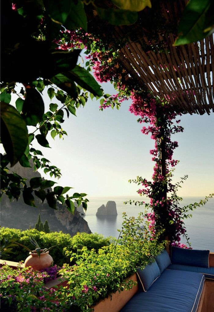 Living Room With View, Capri, Italy