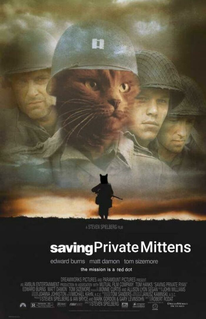 New Favorite Hobby: Photoshopping My Cat Into Movie Posters And Setting Them As My Fiance's Phone Background