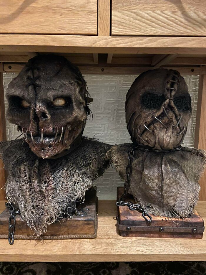 My Dad Is 52 Y/O And His Hobby Is Making These Weird Heads? He Doesn't Think They're Any Good But Considering He Makes Them From Scratch I Think They're Amazing!