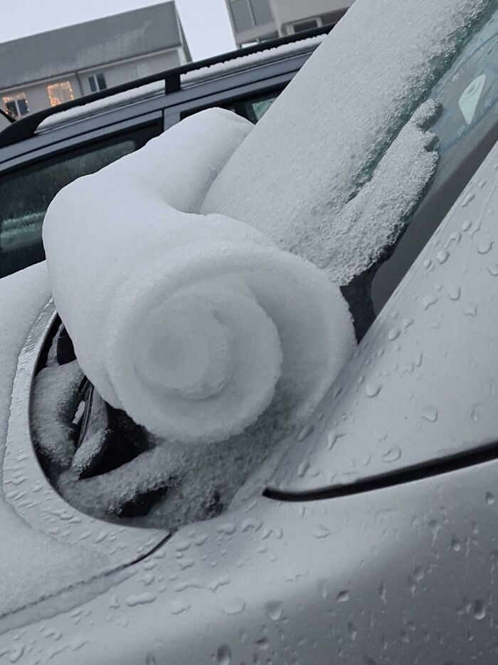 The Way The Snow Rolled Down On My Windshield