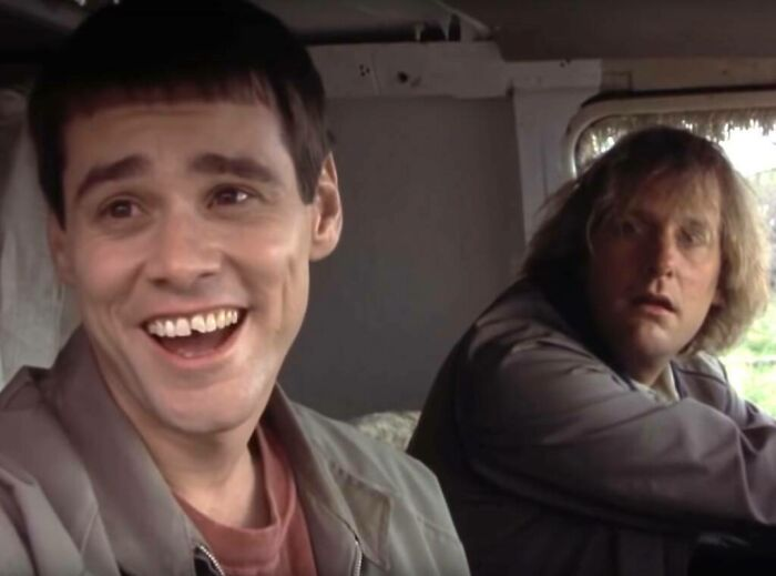 In 'Dumb And Dumber' (1994), Lloyd's Chipped Tooth Is Real. A Kid Jumped On Jim Carrey's Head In Detention When He Was A Child And He Had The Cap Removed To Look Dumb