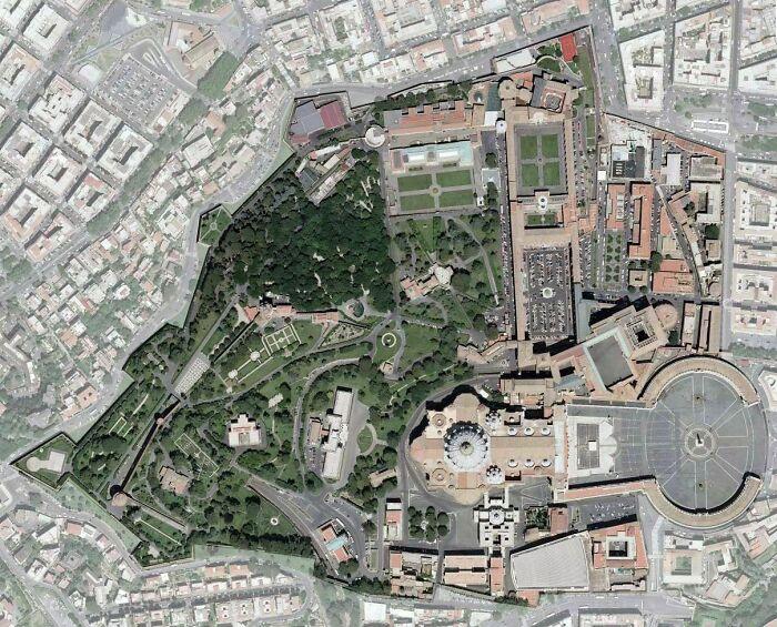 Satellite Map Of Vatican City