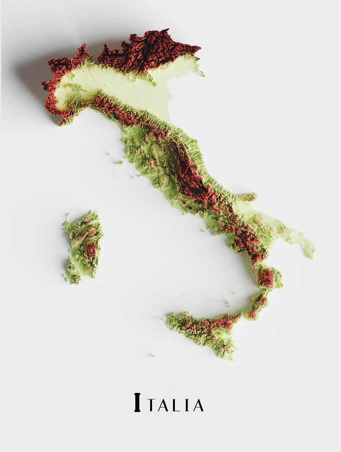 The Topography Of Italy