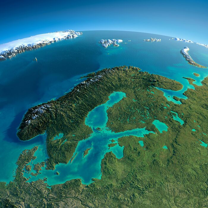 Relief Map Of Baltic And Scandinavia