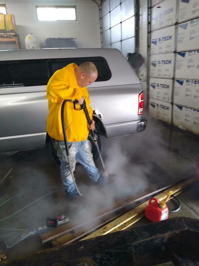 Using A Heated 2700psi Pressure Washer To Clean Your Boots