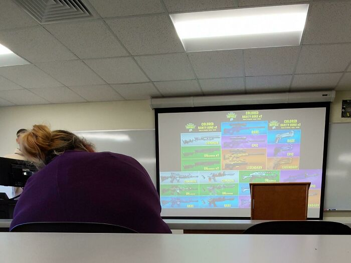 "I'm Stuck In A ""How To Play Fortnite"" Speech. This Is A College Class"