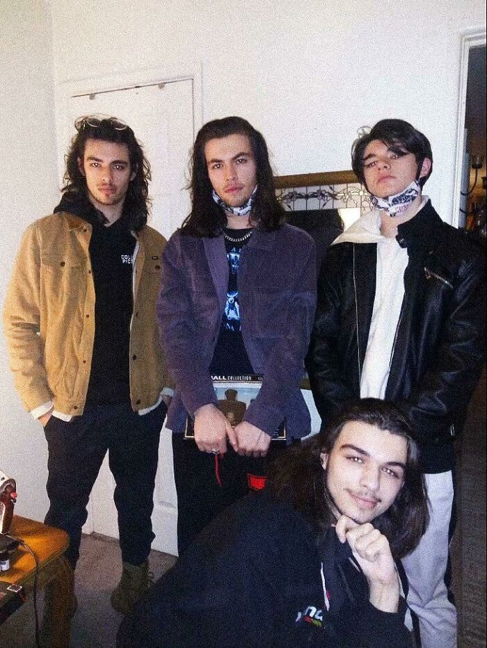 Me (Far Left) And My Younger Brothers. We All Got Some Flow