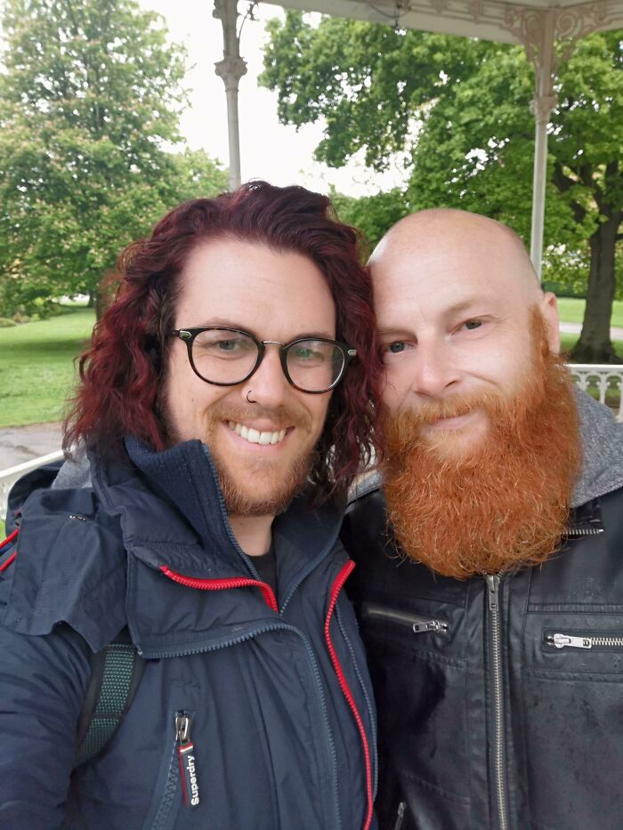 Me Growing My Hair Longer, My Partner Growing His Beard!