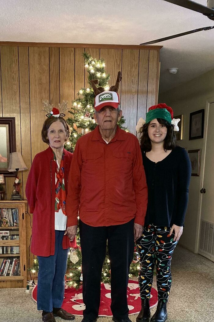 I Moved In With My Grandparents And Decided We Would Be Sending Out Christmas Cards This Year. We Make The Perfect Team