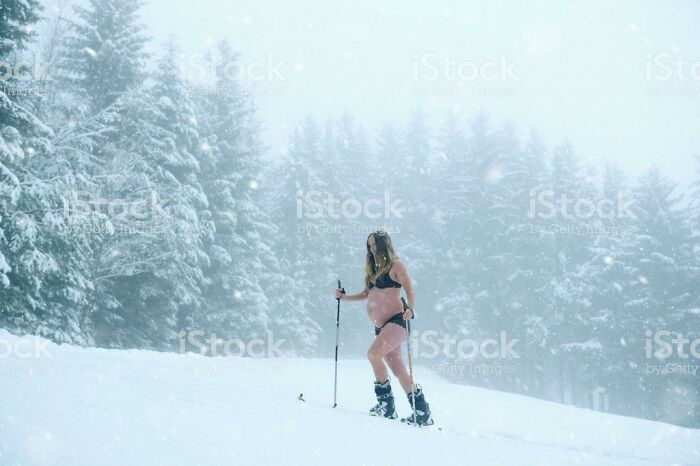 I Think I'll Go Snow Skiing In A Bikini; Ya Know, Since I'm Pregnant And All