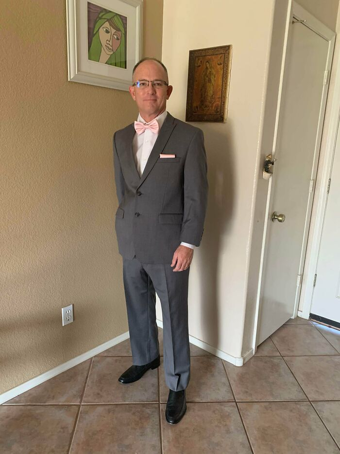 Calvin Klein Slim Fit Suit And John Valvatos Shoes For $16.00