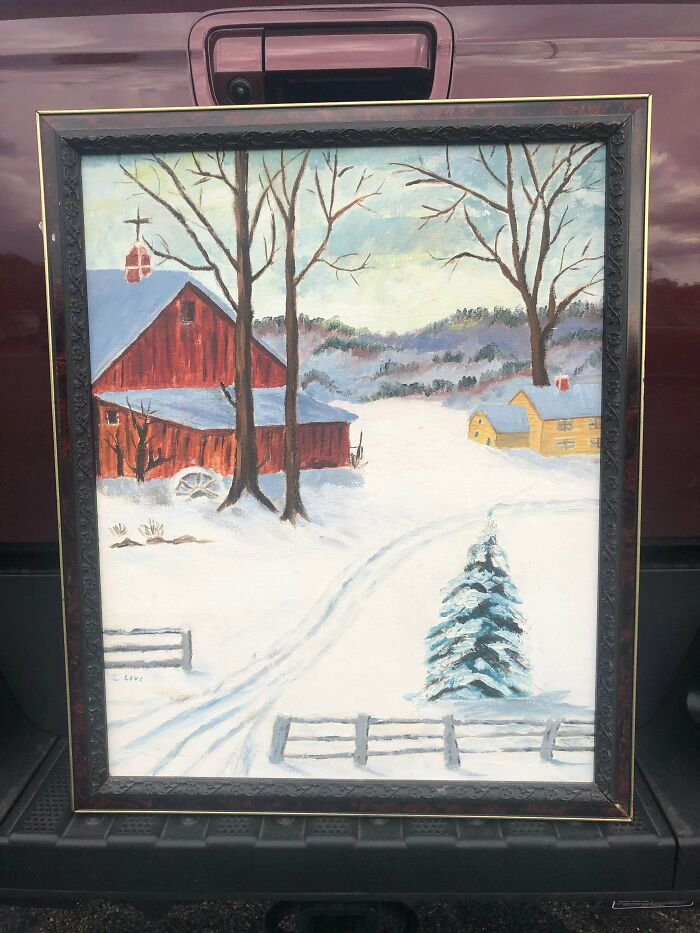 Went To Goodwill To Pick Up Something, And Saw A Painting That Looked Just Like One My Grandmother Would Have Painted. It Was Her Painting!! To My Knowledge, They Were Sold About 25 Years Ago