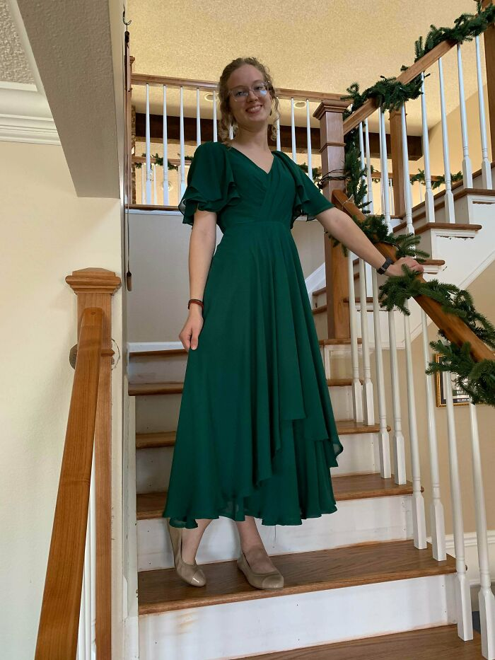 I Found This Gorgeous Green Dress At My Local Arc For $15 And Knew I Couldn't Leave The Store Without It