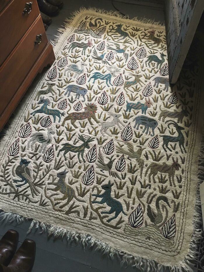 Got This Amazingly Detailed Rug (Or Tapestry?) For $30 Recently. A Little Pricy And Maybe Not Everyone's Taste, But I Love It. After A Thorough Cleaning, It's Classing Up My Closet Floor