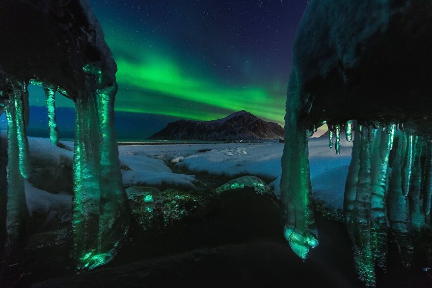 """Lofoten Ice Lights"" By Dennis Hellwig"