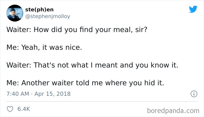 """How Did You Find Your Meal?"""