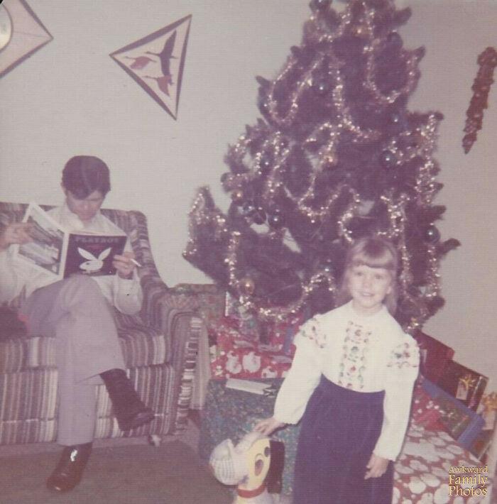 Mi padre y yo en Navidad