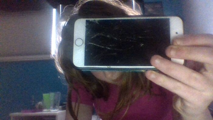 My Broken Phone. Brought To You By A 5 Foot Fall Off Of A Swing Set Onto A Wooden Board