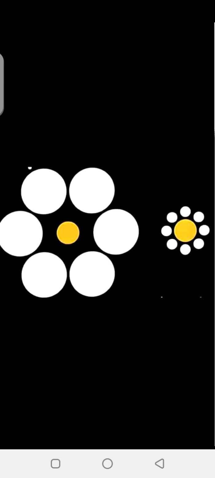 The Yellow Circles Are Of Same Size !!!!!