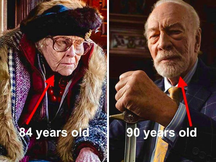 In Knives Out (2019), K Callan, Who Plays Great Nana Wanetta, Is Actually Six Years Younger Than Christopher Plummer, Who Plays Her Son Harlan
