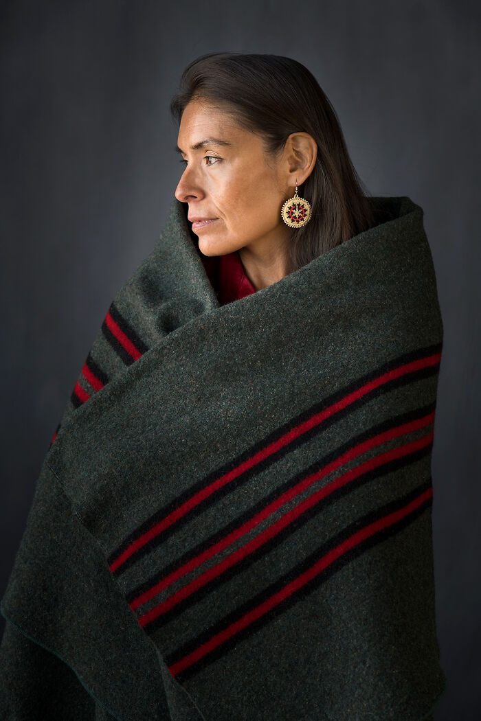 Diné Woman With Wedding Basket Earring