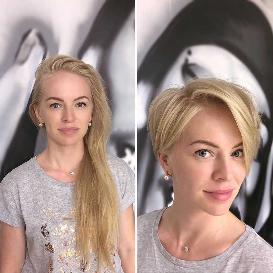 Hairstylist Shares 30 Women Who Took The Risk Of Cutting Their Hair Short And Didn T Regret It Bored Panda