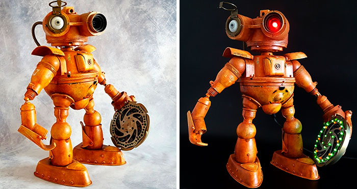 My 17 Steampunk Sculptures Created From Scrap