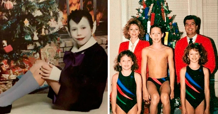 50 Hilarious Family Christmas Photos Shared By People Who Cringe At Them Today