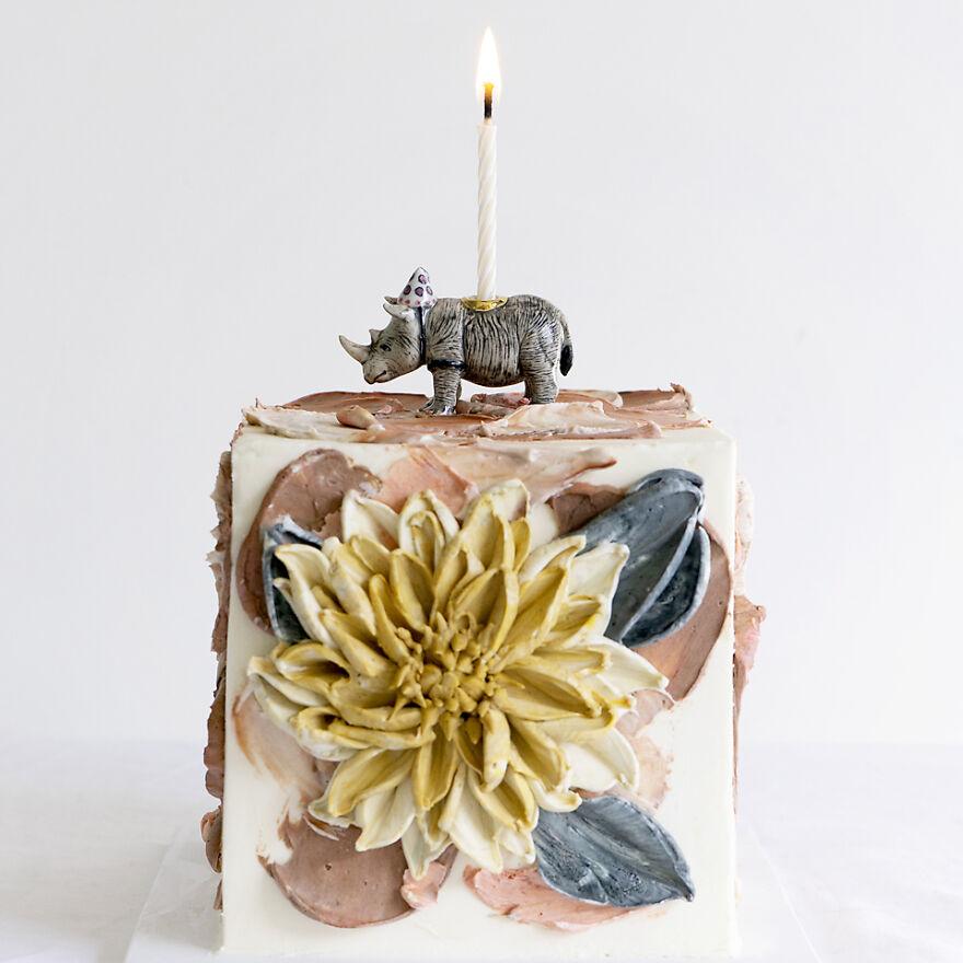 Dahlia Birthday Cake