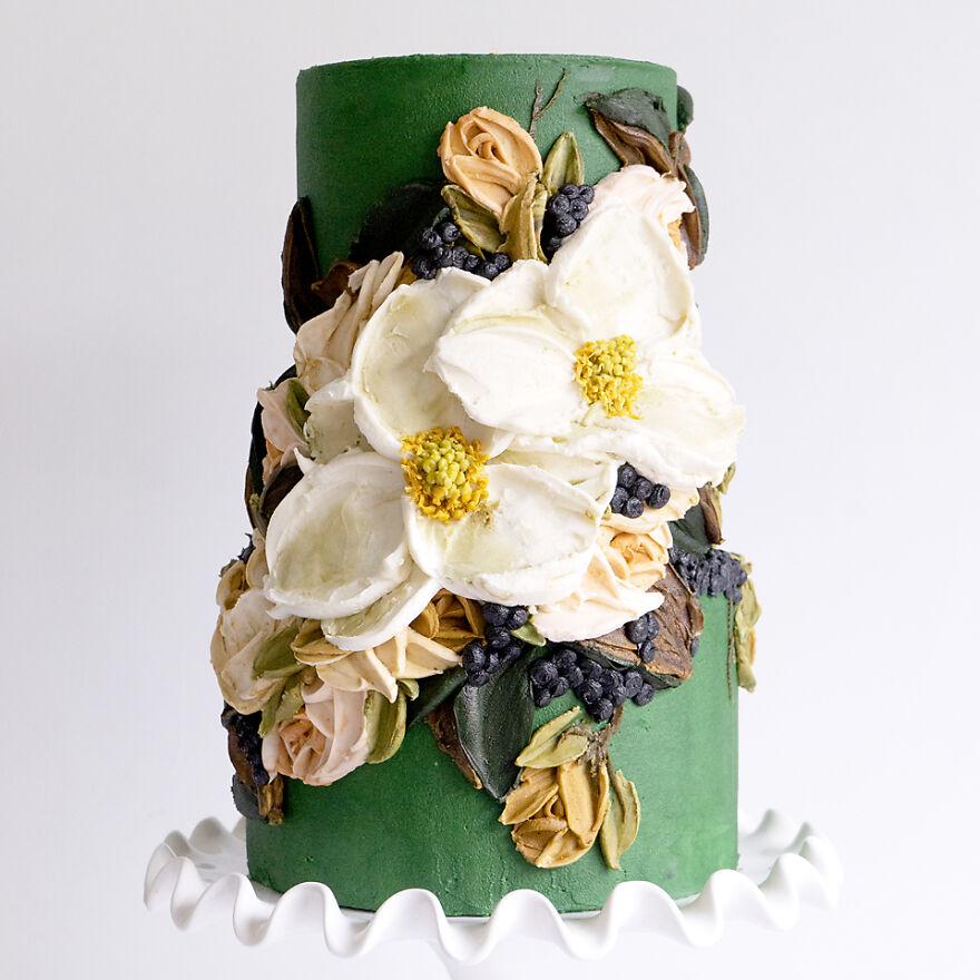Emerald Magnolia Cake