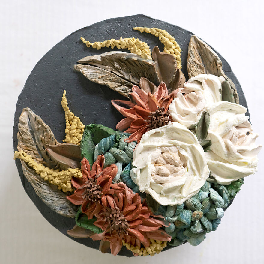 Whipped Cream Feathers Cake