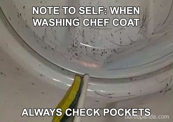 When You Wash Your Chef Coat And Forget To Take The Sharpies Out Of Your Pocket