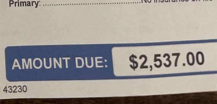 After Buying Christmas Decorations For My House, I Was Biking Home And Was Hit By A Car (Hit And Run) Causing Me To Black Out From Massive Head Trauma. This Is How Much I Owe For My Ambulance Bill