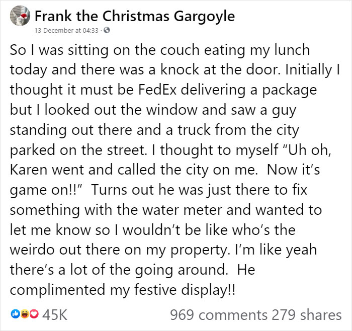"""""""Karen"""" Keeps Leaving Notes Complaining About Woman's Decorations, Woman Responds By Adding Even More 38"""