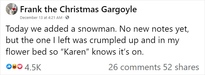 """""""Karen"""" Keeps Leaving Notes Complaining About Woman's Decorations, Woman Responds By Adding Even More 16"""