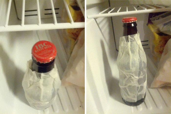 To Chill A Drink Bottle Faster
