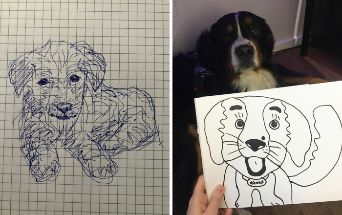 Hey Pandas, Draw A Dog With Your Non-Dominant Hand And Post The Result (Closed)