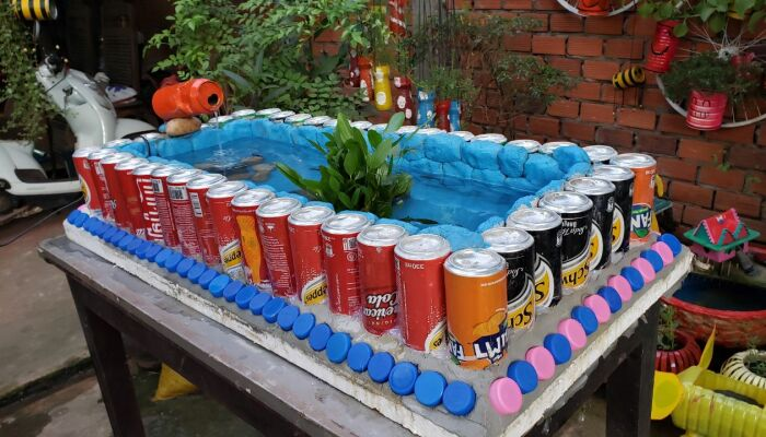 I Recycled Aluminum Cans Into An Aquarium At Home
