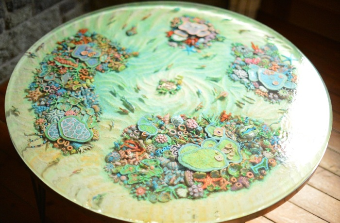 I Built The Most Beautiful Coral Reef Table