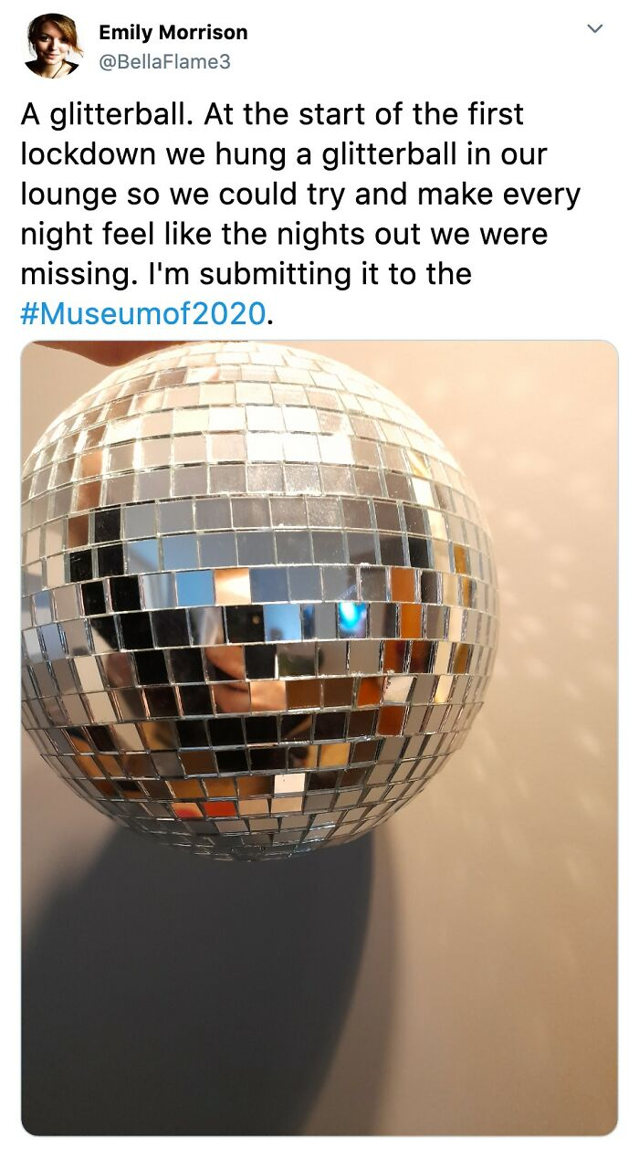 A Glitterball Dontated To The Museum Of 2020