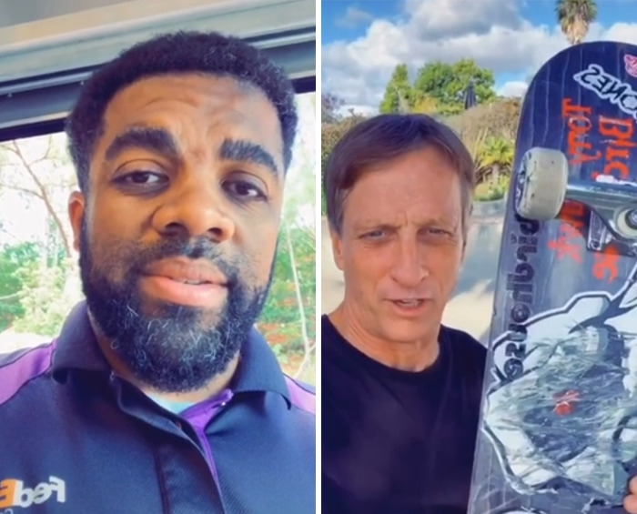 When You're A Kid And You Ask A FedEx Courier To Bring Your Skateboard To Tony Hawk, And He Does, And Then Tony Decides To Send One Of His Back